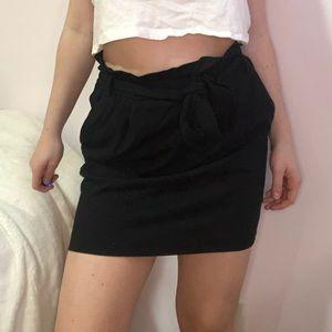 Women's Dynamite Tie-Up Black Dress Skirt